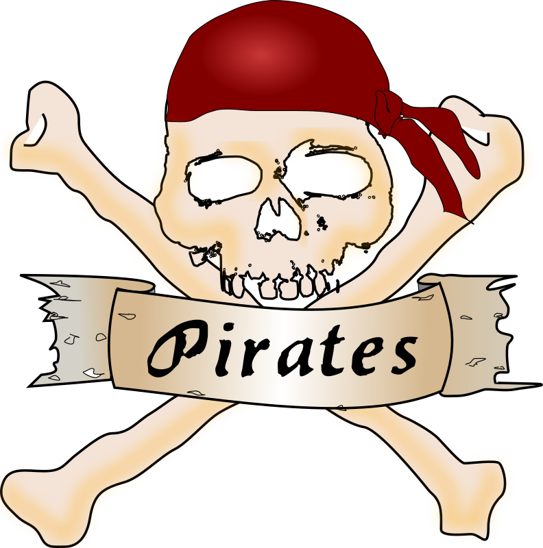 Pirate skull by Chrisdesign - My first handdrawing, only conture of the head is an vectorisation.