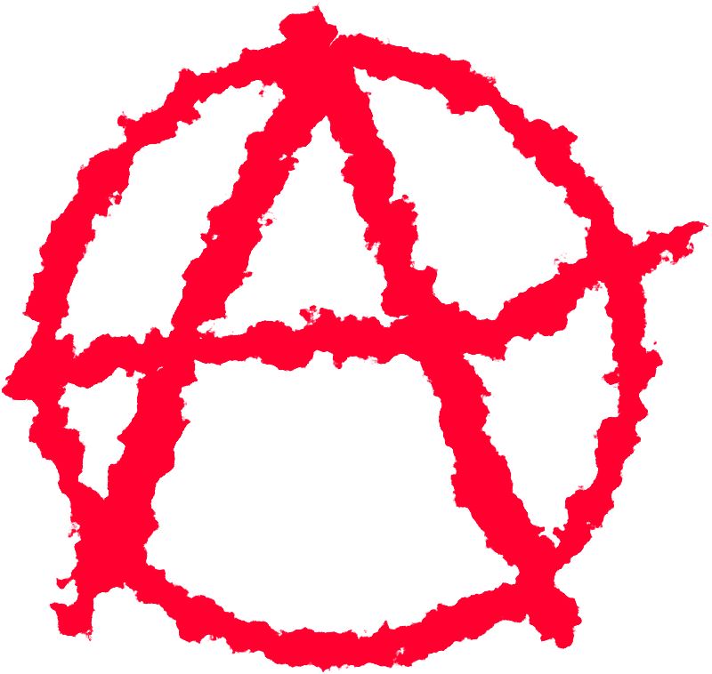 "Anarchism by J_Alves - The red A in a circle, symbol of Anarchism, in a ""rough"" rendering. Drawn in Inkscape."