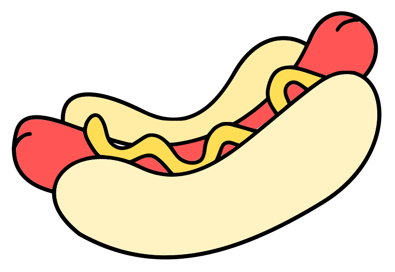 hotdog - colour by ryanlerch - a coloured in version of the hotdog.