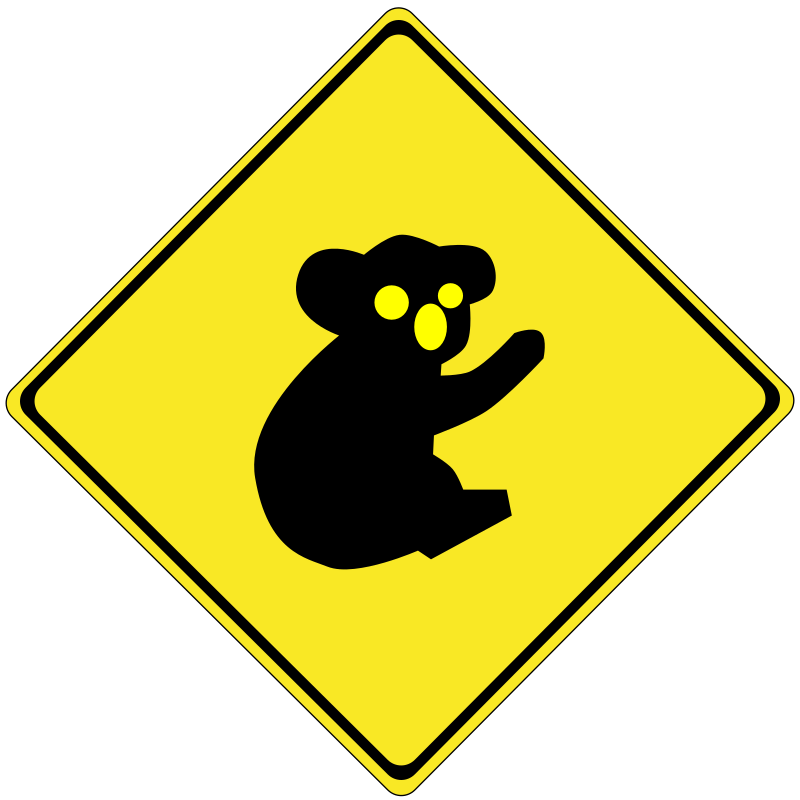 Warning koalas ahead by stryker