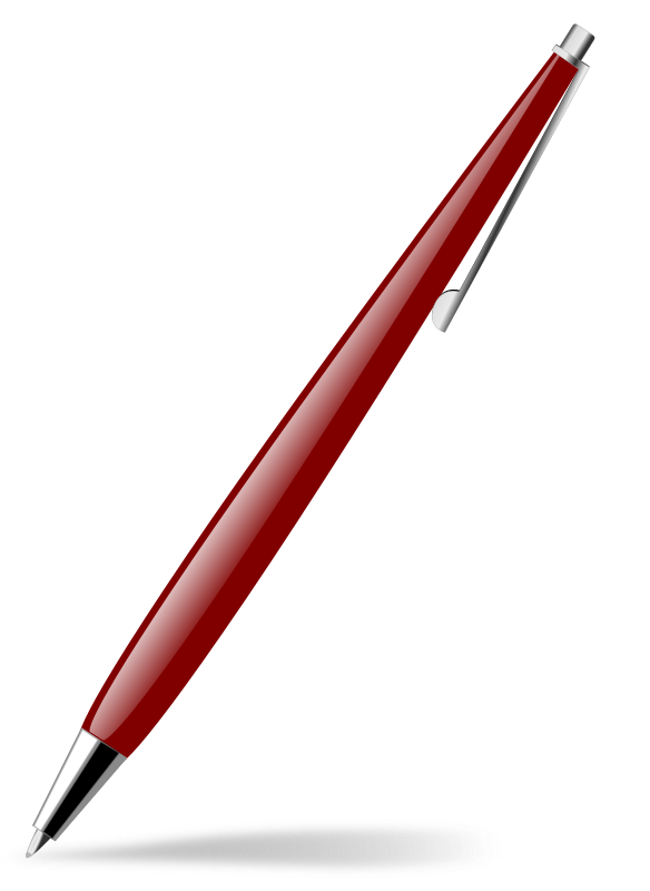red glossy pen by Chrisdesign - Red glossy pen.