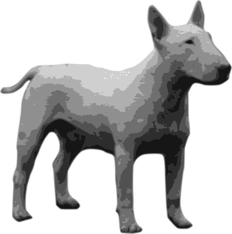 bullterrier grayscale by drunken_duck - automatic bitmap vektorization. another version in outline still in the clips gallery.