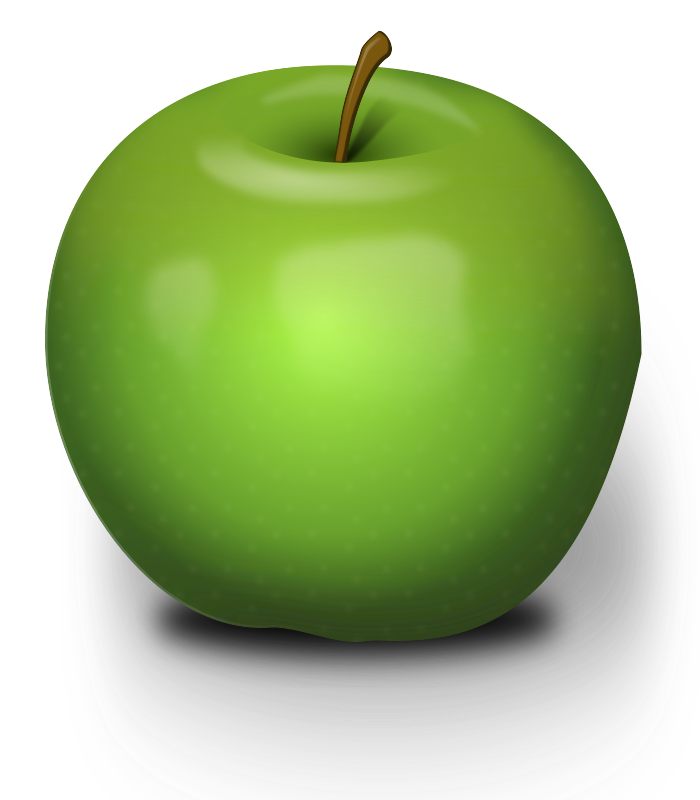 Photorealistic Green Apple by Chrisdesign - An green apple with much blur inside.