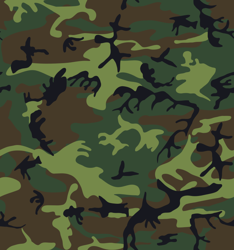 Camouflage / Army Print by alnilam - A tileable green camouflage pattern.