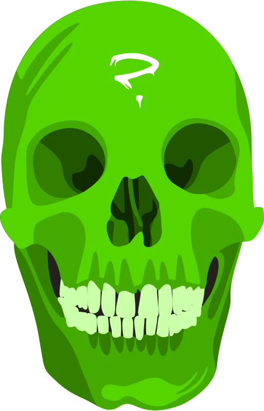 green_skull by liakad - Just a green skull, done in Inkscape.
