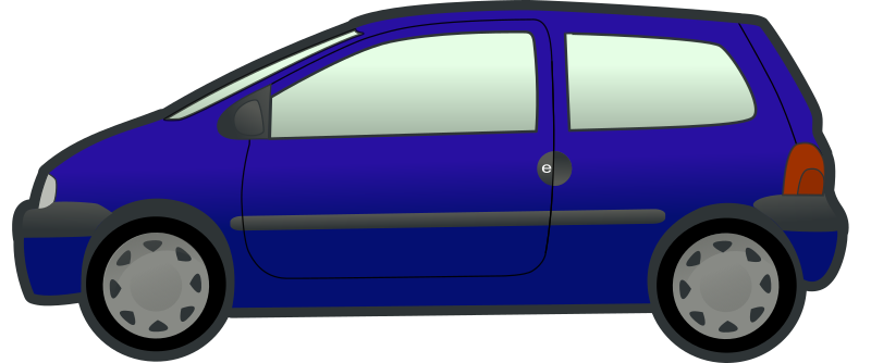 Blue Twingo by tobias - A blue car viewed from the side.