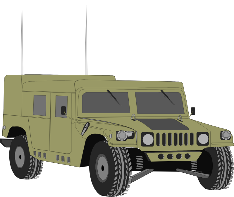 Humvee 06 by Anonymous - public domain art uploaded anonymously from OCAL 0.18