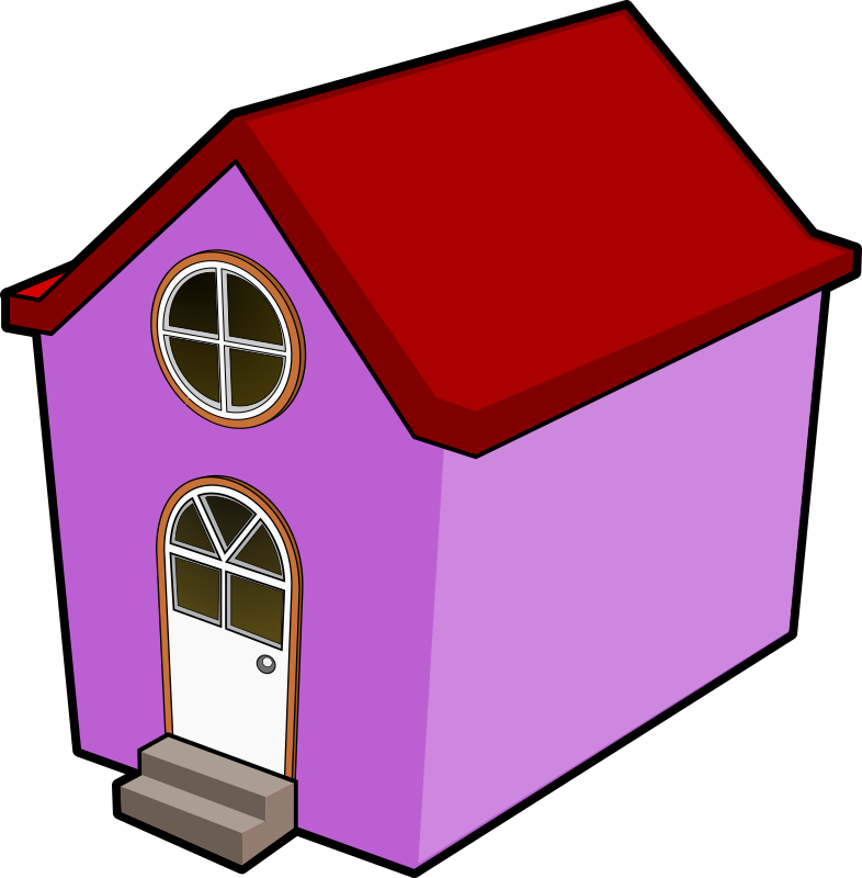 A Little Purple House by BigRedSmile - A little purple house I did for my wife...