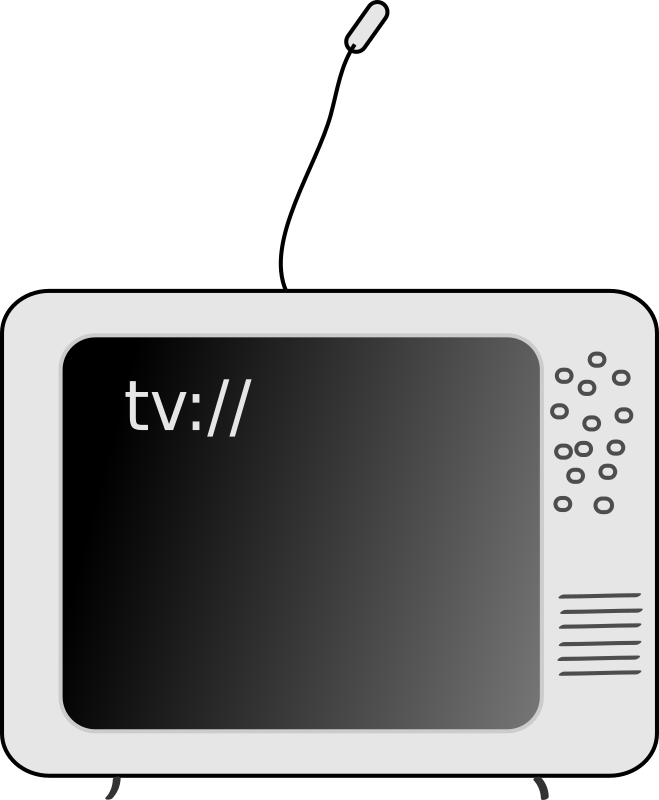 TV by doo - A television set.