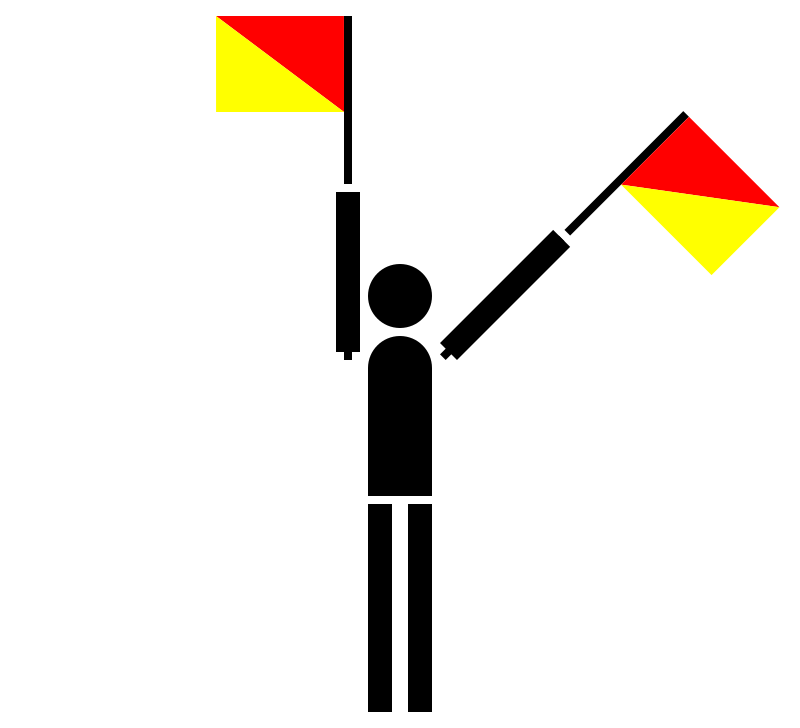 semaphore numerical by Anonymous - Numerical semaphore.