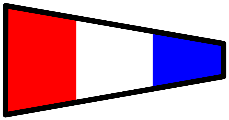signalflag 3 by Anonymous - 3 signal flag.