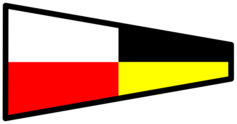 signalflag 9 by Anonymous - signal flag for the number 9