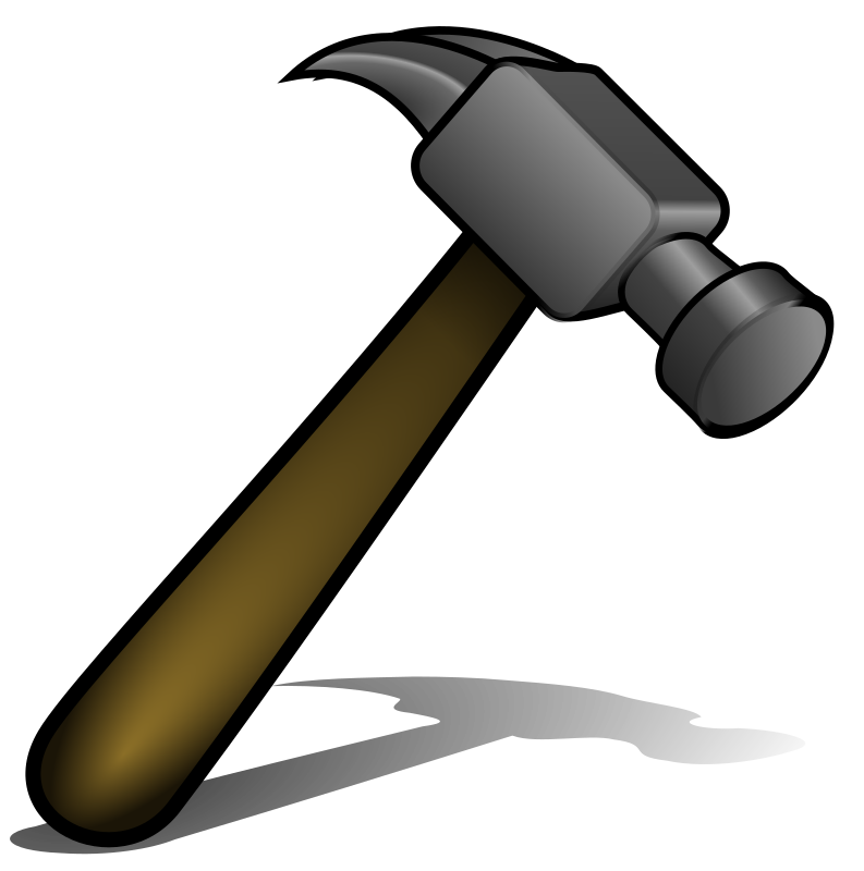 Hammer by david_benjamin - A hammer, created in Inkscape
