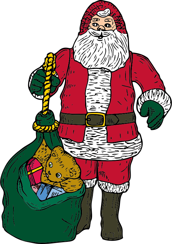 Santa and bag by johnny_automatic