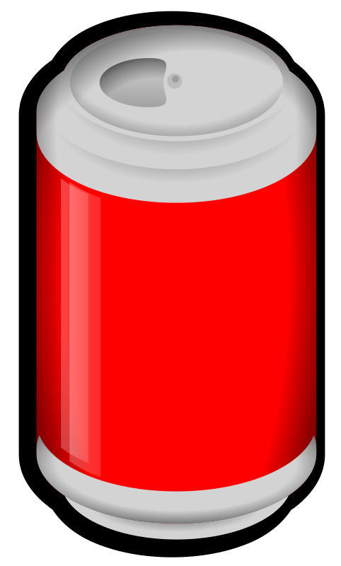 Cola by jonata - Cola can with red label.