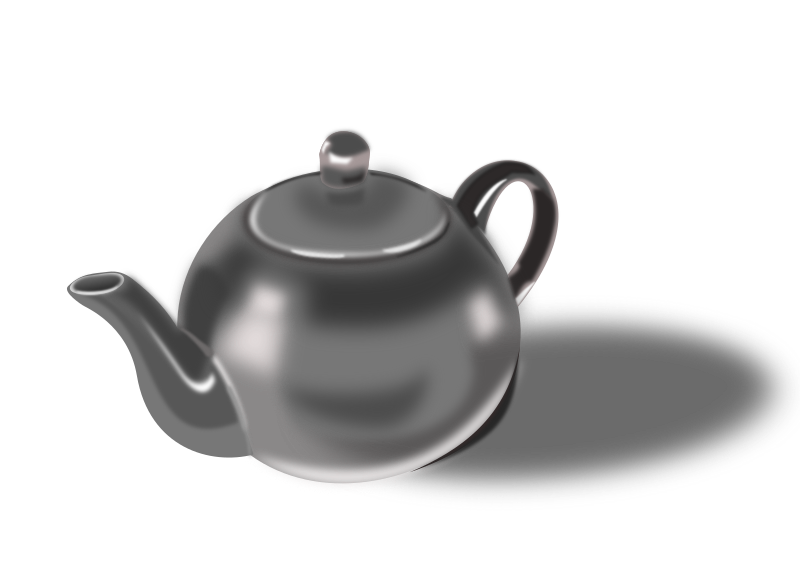 Tea pot by dominiquechappard - My first test of photorealistic drawing with Inkscape.