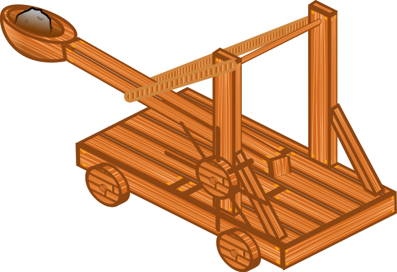 Catapult by hextrust - A isometric wooden catapult.