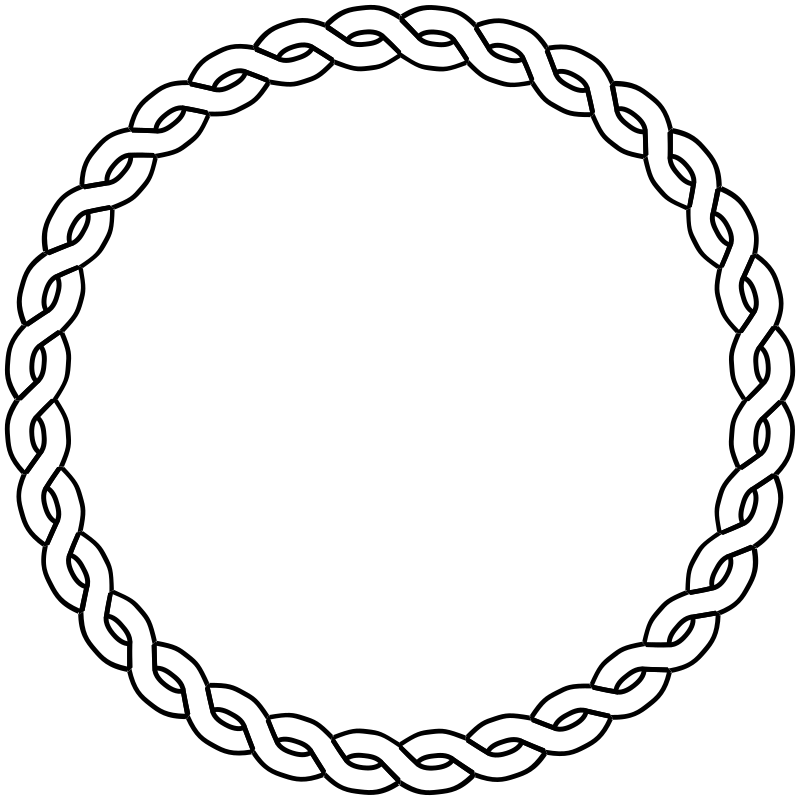 rope border circle by pitr