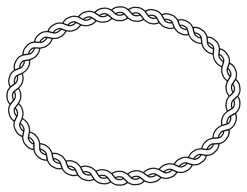 rope border oval by pitr - Simple plaited/braided frame. The file contains the element used to make frame (off the page).