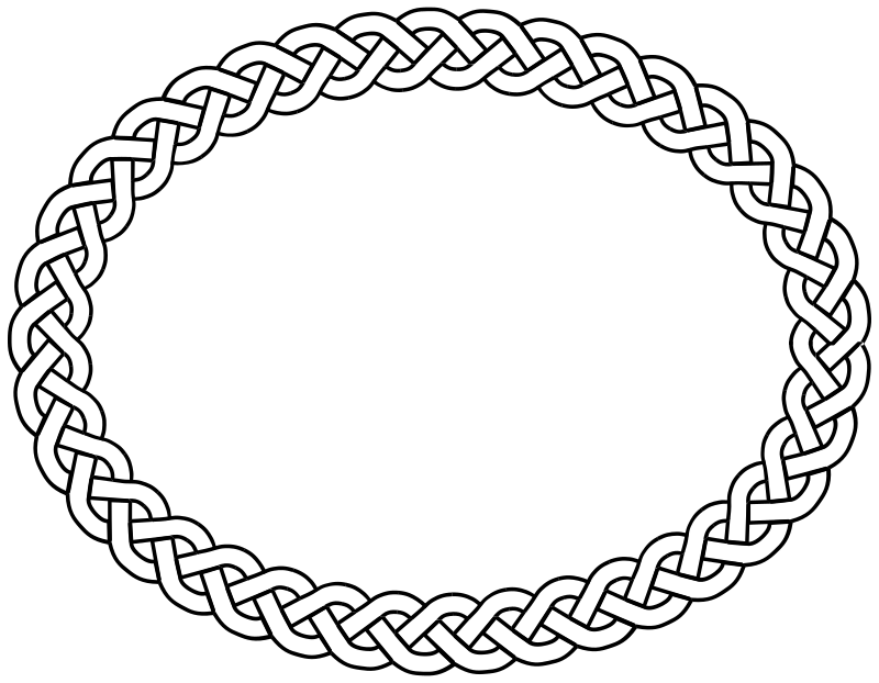 3-plait border oval by pitr - Simple plaited/braided frame. The file contains the element used to make frame (off the page).