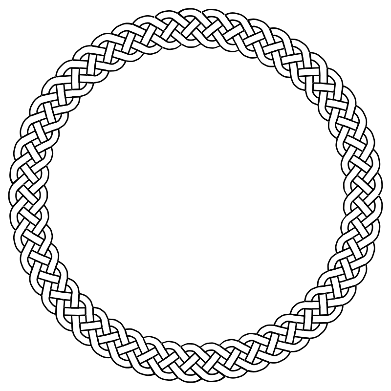 4-plait border circle by pitr - Simple plaited/braided frame. The file contains the element used to make frame (off the page).