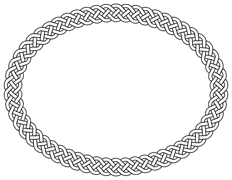 4-plait border oval by pitr - Simple plaited/braided frame. The file contains the element used to make frame (off the page).