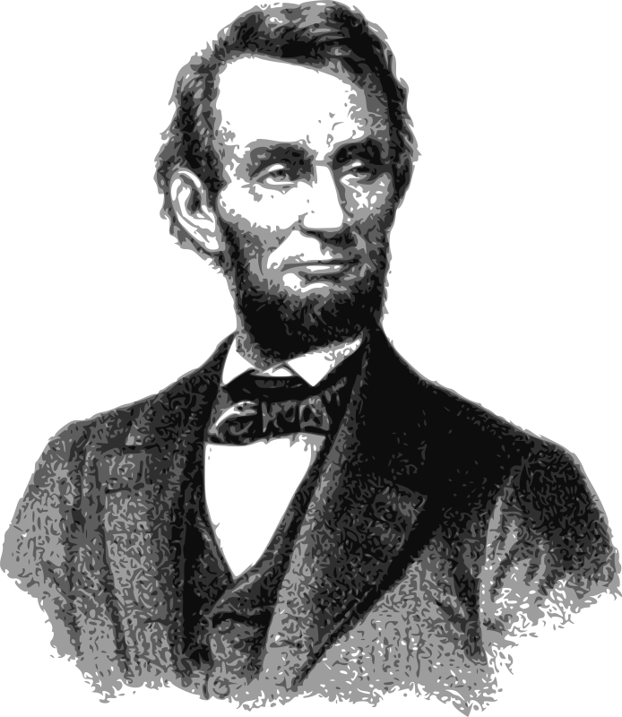 Abraham Lincoln - 1865 by j4p4n - Good ol' honest Abe. One of the most famous American Presidents. He had a super cool beard too. This is sadly from the cover of some sheet music for the funeral march John K. Paine wrote in his honour.