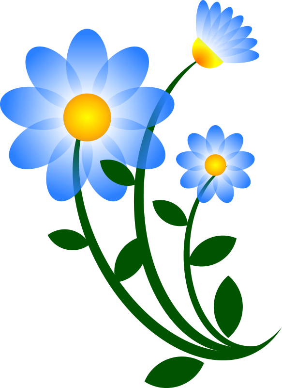 Blue Spring Flowers Clip Art Free