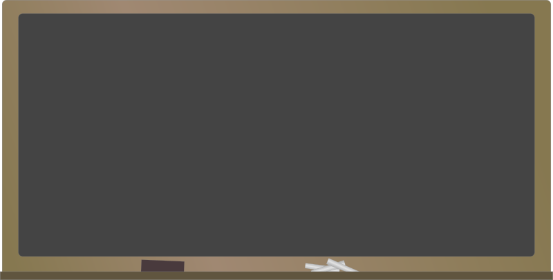 Blackboard by J_Alves - A blackboard with chalk and eraser. Drawn in Inkscape.