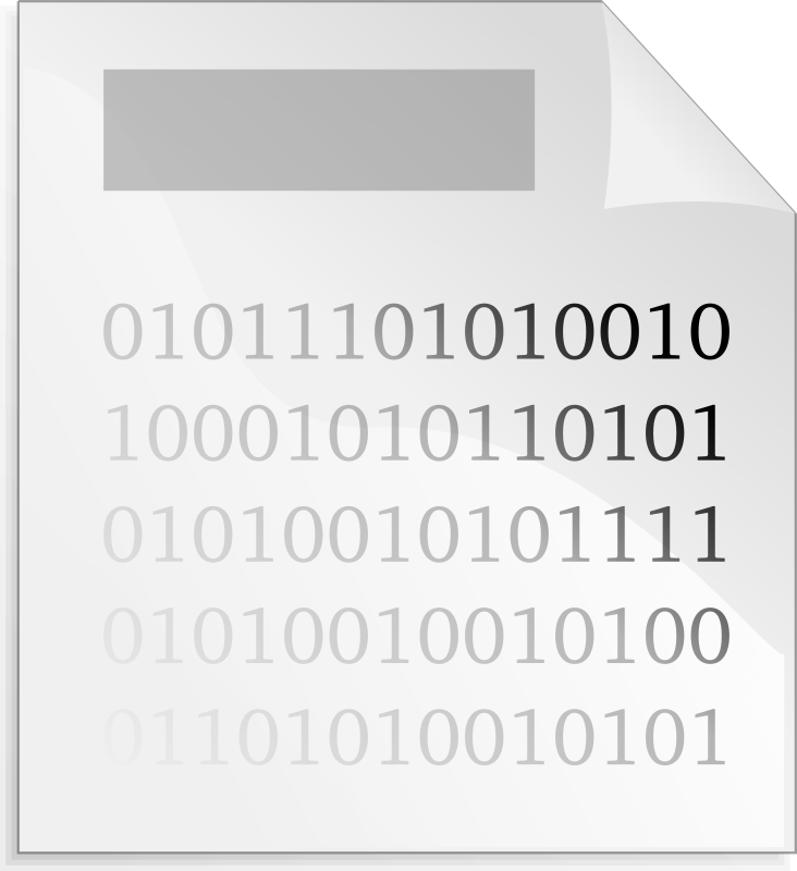 Binary File by mihi - A remix of Anonymous' Spreadsheet Icon. It shows a binary file.