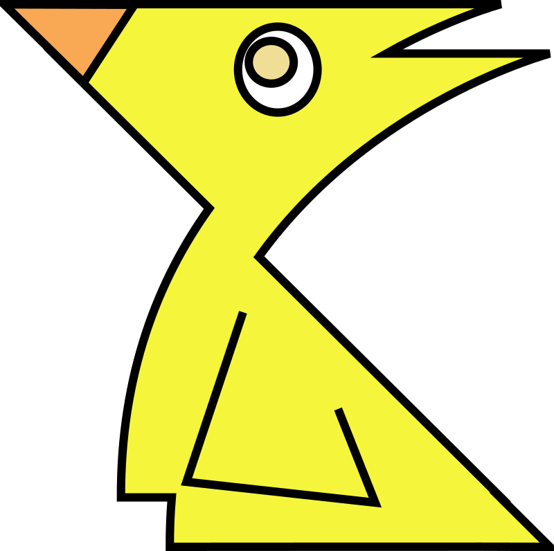 chick by mcol - Geometric chick.