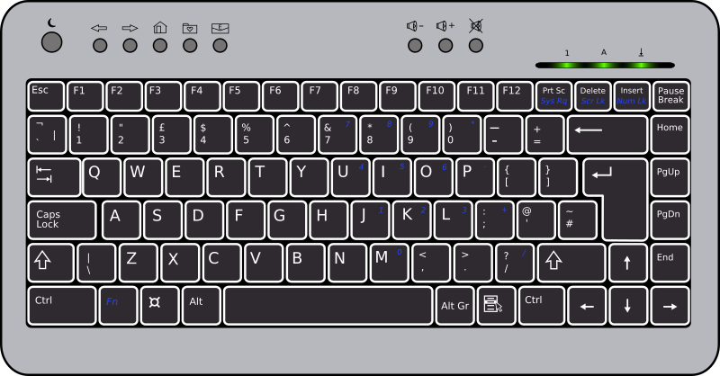 BTC6100C UK Compact Keyboard by doctormo - A symbolised reorientation of the btc6100c keyboard; the UK version (gb layout)