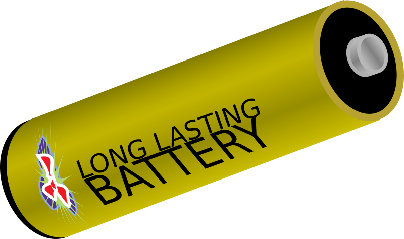 "Battery by blphoto - A golden battery that says ""long lasting battery"" on it."