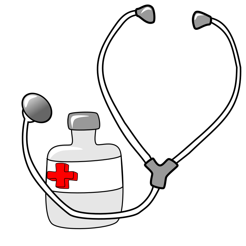 Medicine and a Stethoscope by metalmarious - A stethoscope and a bottle of medicine with no label