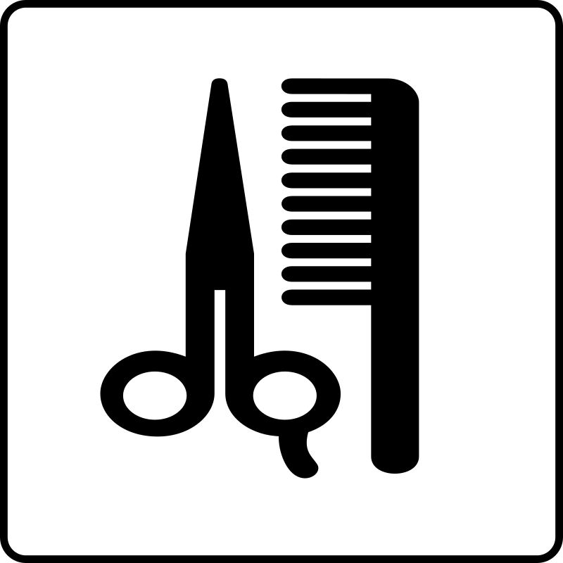 Hotel Icon Hair Salon by Gerald_G - Hotel Icons. Originally done for a request, this set has been re-mixed to simple black and white versions.