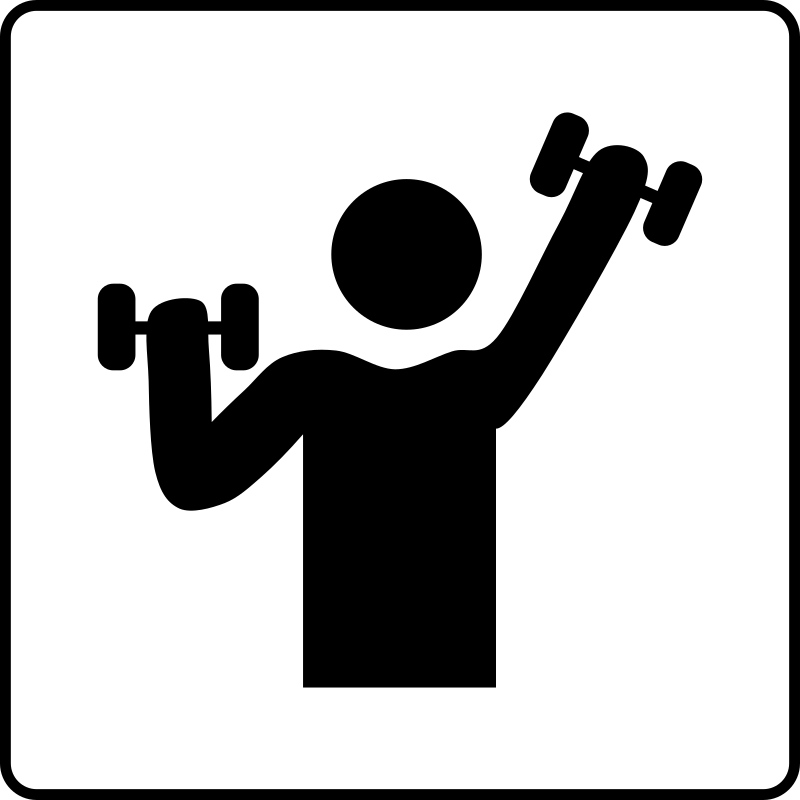 Hotel Icon Has Gym by Gerald_G - Hotel Icons. Originally done for a request, this set has been re-mixed to simple black and white versions.