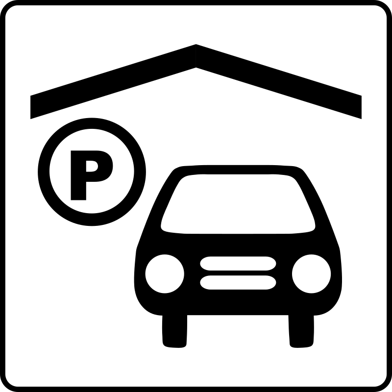 Hotel Icon Has Indoor Parking by Gerald_G - Hotel Icons. Originally done for a request, this set has been re-mixed to simple black and white versions.