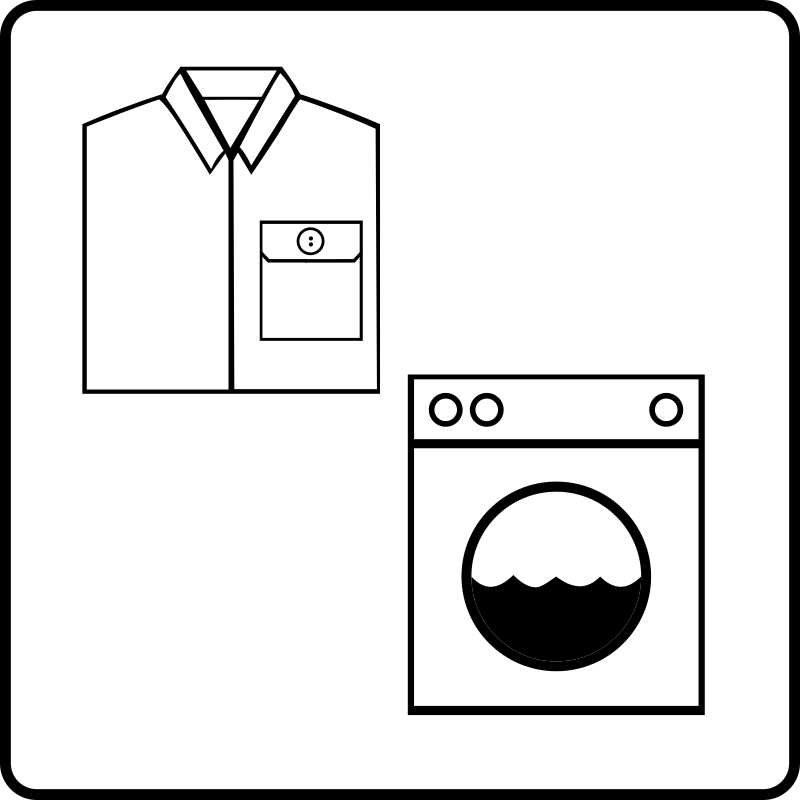 Hotel Icon Has Laundry Service by Gerald_G - Hotel Icons. Originally done for a request, this set has been re-mixed to simple black and white versions.