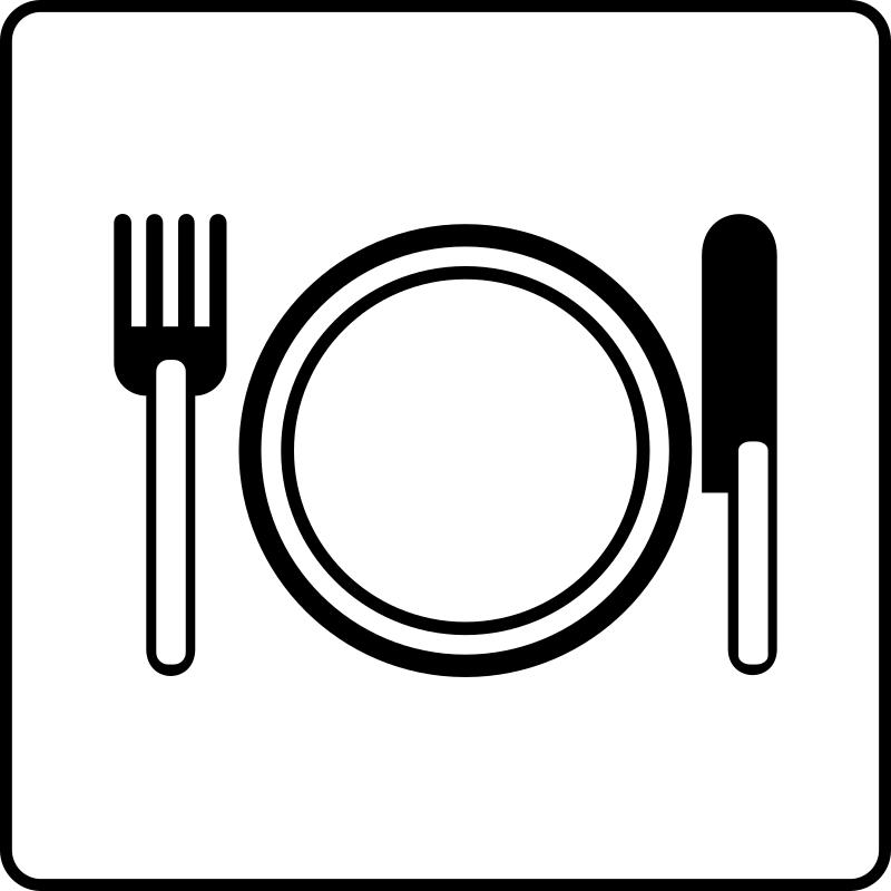 Hotel Icon Has Restaurant by Gerald_G - Hotel Icons. Originally done for a request, this set has been re-mixed to simple black and white versions.