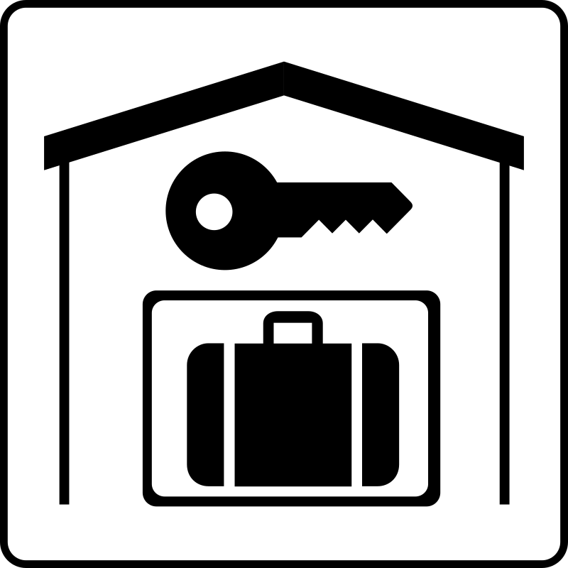 Hotel Icon Has Secure Storage In Room by Gerald_G - Hotel Icons. Originally done for a request, this set has been re-mixed to simple black and white versions.