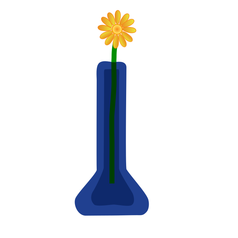 Flower in Vase by violetsprite