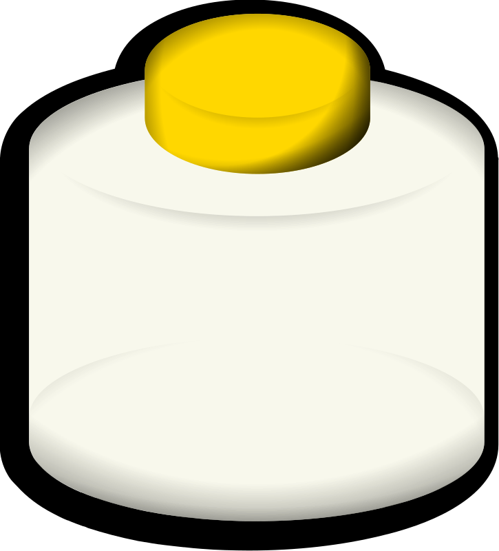 Glass 1 by jonata - A bottle with a yellow cap.