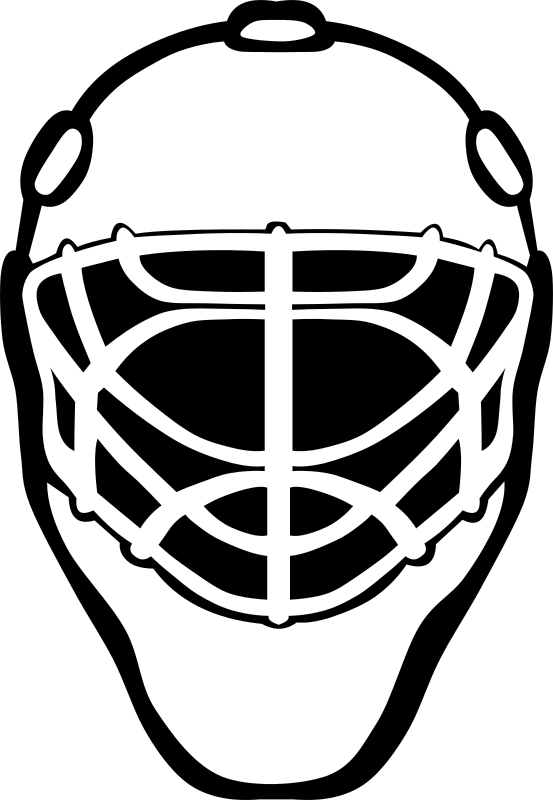 Goalie Mask Simple by Gerald_G - B&W remix.