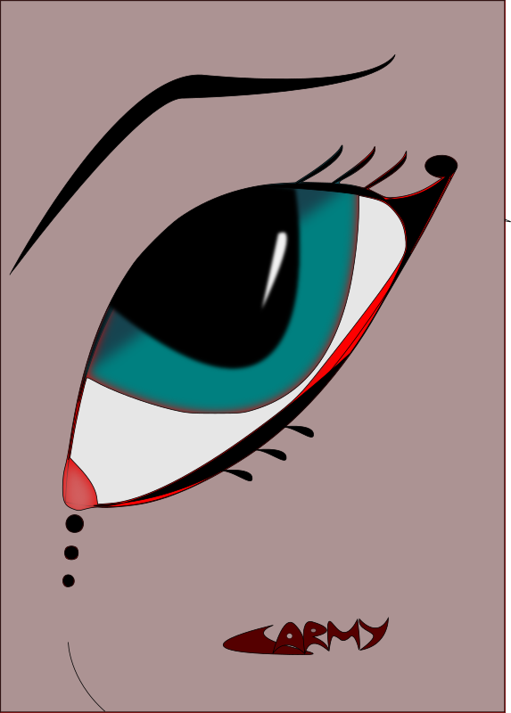 fantasy eye by carmipirata - This is the first eye I've made with inkscape