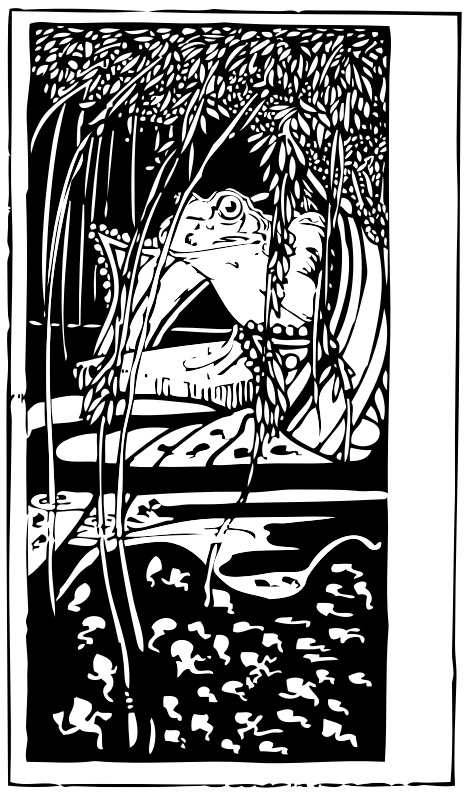 frog king by johnny_automatic - from an illustrated version of Aesop's Fables by Charles Robinson, 1895 London