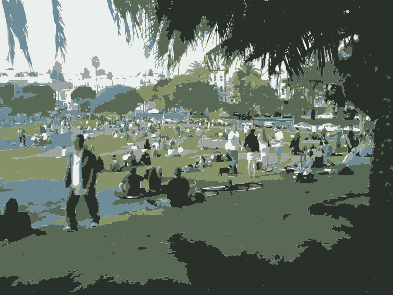 Dolores Park Poster San Francisco by rejon - These are images from my 2010 travels I've converted with this command:
