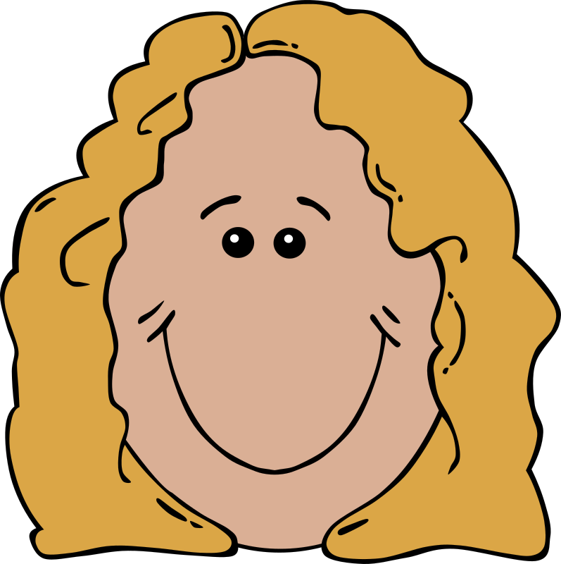 "Lady Face Cartoon by Gerald_G - Uploaded by ""World Label"" for conversion to SVG and publication on OCAL."