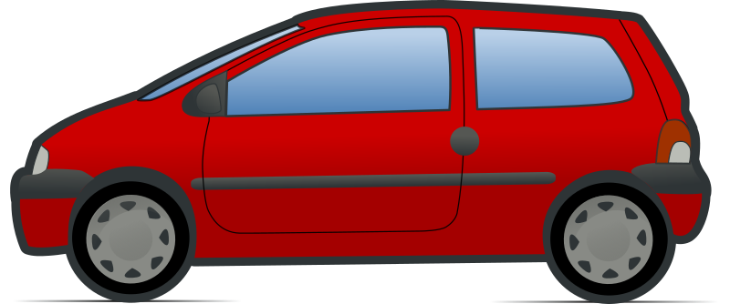 red and green renault twingo 2 by molumen