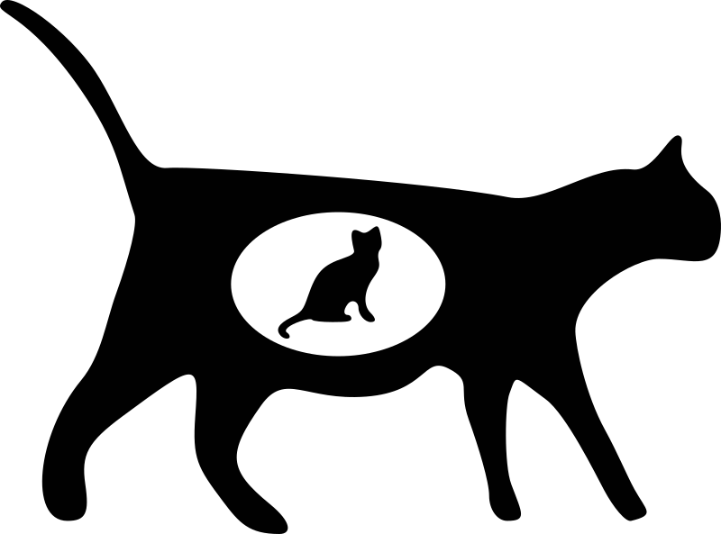 cat icons 1 by molumen - silhouette of a cat.
