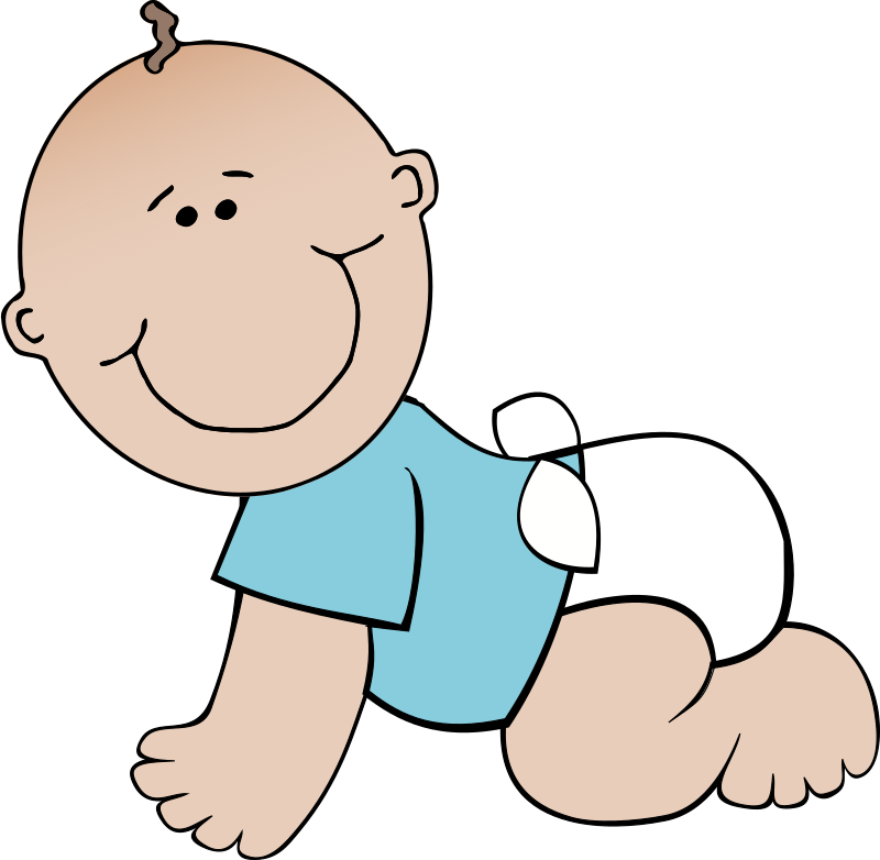Baby boy crawling by papapishu - I rounded the face a bit, then added a simple body.